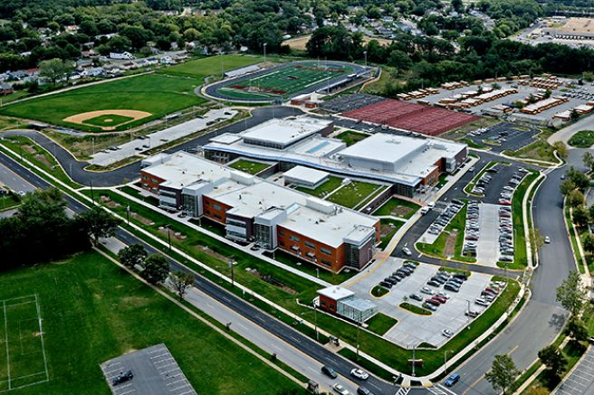 Fairmont Heights High School aerial
