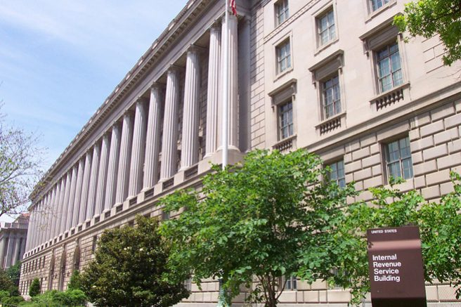 Exterior of IRS Headquarters Building