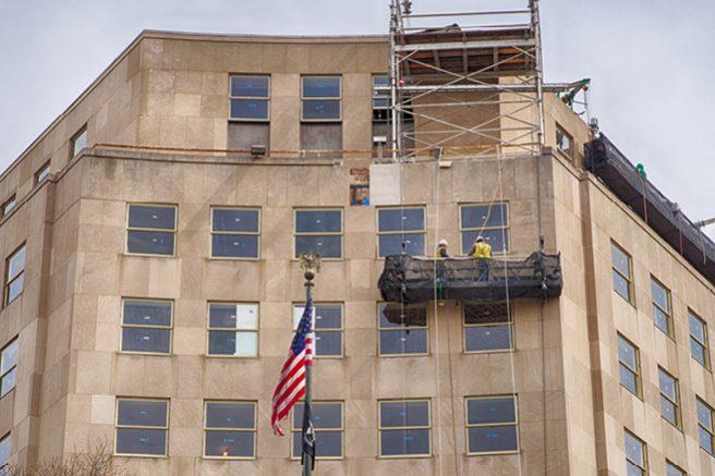 Window Refurbishment Underway at the Lafayette Building
