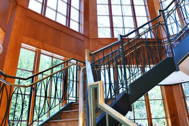 New Grand Staircase with Ornamental Metal
