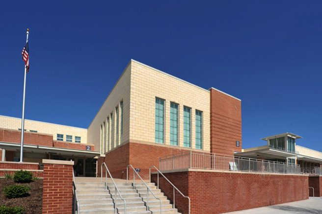 Main Entrance to the New Reed School Building