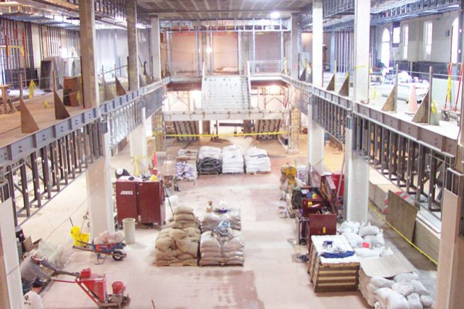Grunley Jobsite inside Stamp Student Union