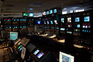 Fire/life safety upgrades were performed at night atop Voice of America broadcast studios