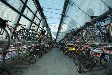 Interior of Bicycle Transit Center