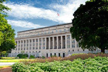 Exterior of the DOI Headquarters Building