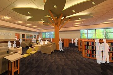Rendering of new library/media center