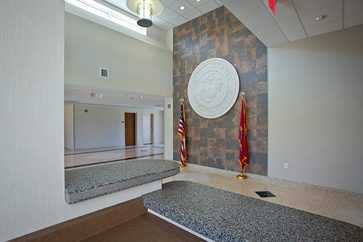 Lobby and Main Entrance to the Communications Administration Building