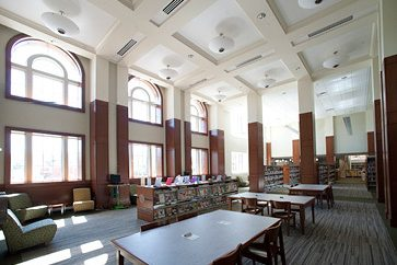 Completed Main Reading Room of the Westover Library Building