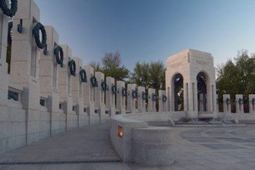 Adorned Granite Pillars and Arched Pavilion